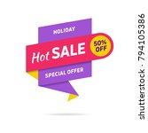 sale banner design template.... | Shutterstock .eps vector #794105386