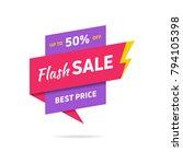 sale banner design template.... | Shutterstock .eps vector #794105398