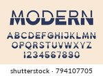 geometric technology font... | Shutterstock .eps vector #794107705