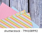 patterned sheets of paper  top...