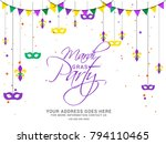 illustration of mardi gras... | Shutterstock .eps vector #794110465
