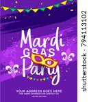 illustration of mardi gras... | Shutterstock .eps vector #794113102