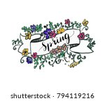 lettering with colorful... | Shutterstock .eps vector #794119216