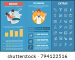 dentistry infographic template  ... | Shutterstock .eps vector #794122516