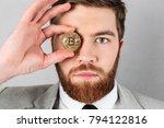 close up of a serious...   Shutterstock . vector #794122816