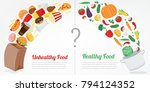 healthy lifestyle concept.... | Shutterstock .eps vector #794124352