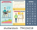human resource infographic... | Shutterstock .eps vector #794126218