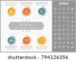 medicine infographic template ... | Shutterstock .eps vector #794126356