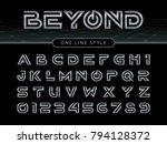 vector of futuristic alphabet... | Shutterstock .eps vector #794128372