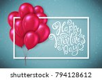 poster with with hand drawn... | Shutterstock .eps vector #794128612