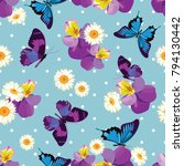 floral seamless pattern.... | Shutterstock .eps vector #794130442