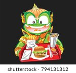 thai giant sale and served... | Shutterstock .eps vector #794131312