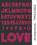 vector alphabet of various... | Shutterstock .eps vector #794131822