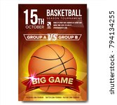basketball poster vector.... | Shutterstock .eps vector #794134255