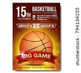 basketball poster vector.... | Shutterstock .eps vector #794134255