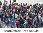 rome italy   piazza bocca della ...   Shutterstock . vector #794138035