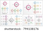 collection of colorful... | Shutterstock .eps vector #794138176