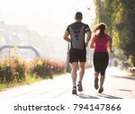 urban sports  healthy young... | Shutterstock . vector #794147866