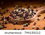 mixed peppercorns. dry mix... | Shutterstock . vector #794150212