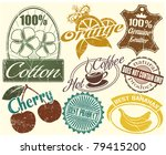 natural product stamps | Shutterstock .eps vector #79415200