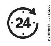 24 hours icon vector | Shutterstock .eps vector #794152096