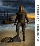medieval scandinavian warrior... | Shutterstock . vector #794155816