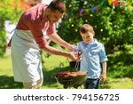 food  people and family time... | Shutterstock . vector #794156725