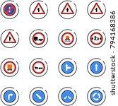 line vector icon set   no... | Shutterstock .eps vector #794168386