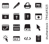 solid black vector icon set  ... | Shutterstock .eps vector #794169325