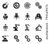 solid black vector icon set  ... | Shutterstock .eps vector #794169472