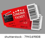admit one tickets. vector... | Shutterstock .eps vector #794169808