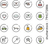 line vector icon set   vip... | Shutterstock .eps vector #794172886