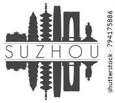 suzhou china asia skyline...   Shutterstock .eps vector #794175886