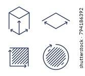 size  square  area concept... | Shutterstock .eps vector #794186392