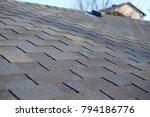 close up view on asphalt... | Shutterstock . vector #794186776