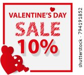 happy valentine's day. top view ... | Shutterstock .eps vector #794191852