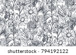 vector seamless pattern with... | Shutterstock .eps vector #794192122