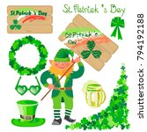st. patrick's day. set of... | Shutterstock .eps vector #794192188