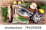 Fresh Fish And Ingredients For...