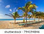 beach at caribbean sea in playa ... | Shutterstock . vector #794194846