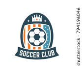 soccer or football club logo or ... | Shutterstock .eps vector #794196046