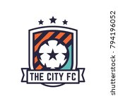 soccer or football club logo or ... | Shutterstock .eps vector #794196052