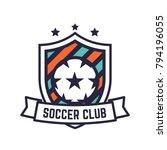 soccer or football club logo or ...   Shutterstock .eps vector #794196055