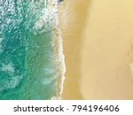 sand beach aerial  top view of... | Shutterstock . vector #794196406