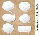 speech bubbles set with... | Shutterstock .eps vector #794197066