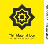 arabic art bright yellow...