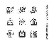 birthday  event  celebration... | Shutterstock .eps vector #794200432