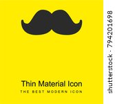 big moustache bright yellow...