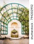 welcome spring   rustic... | Shutterstock . vector #794202952