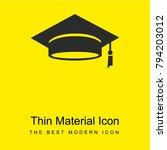 graduation cap bright yellow...